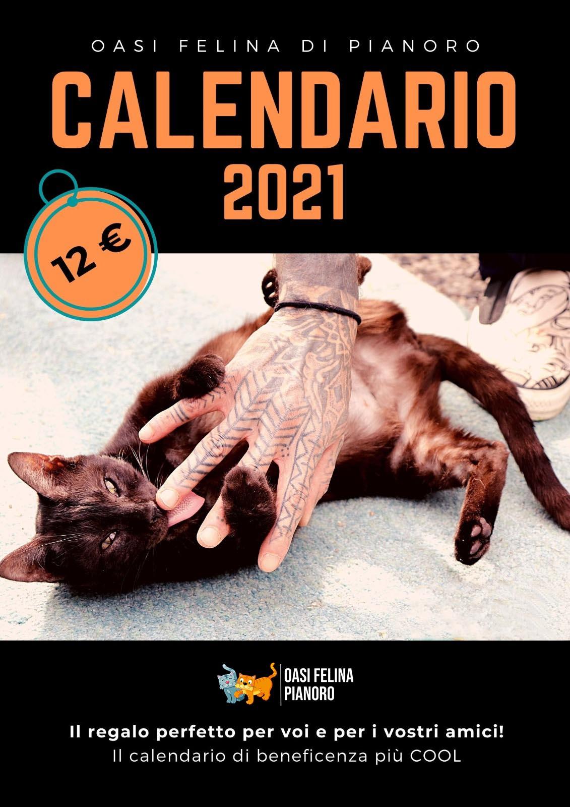 Calendario 2021 Oasi Felina   Una Zampa sul Cuore Onlus